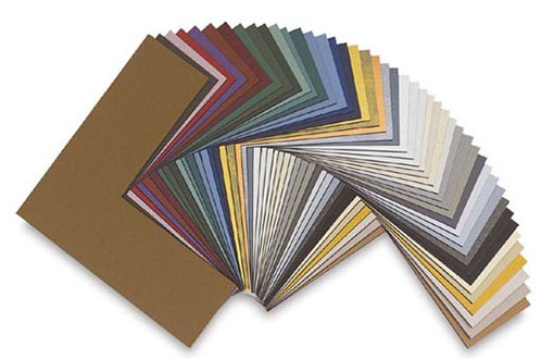 A wide selection of mat colours and materials and custom mat cutting.