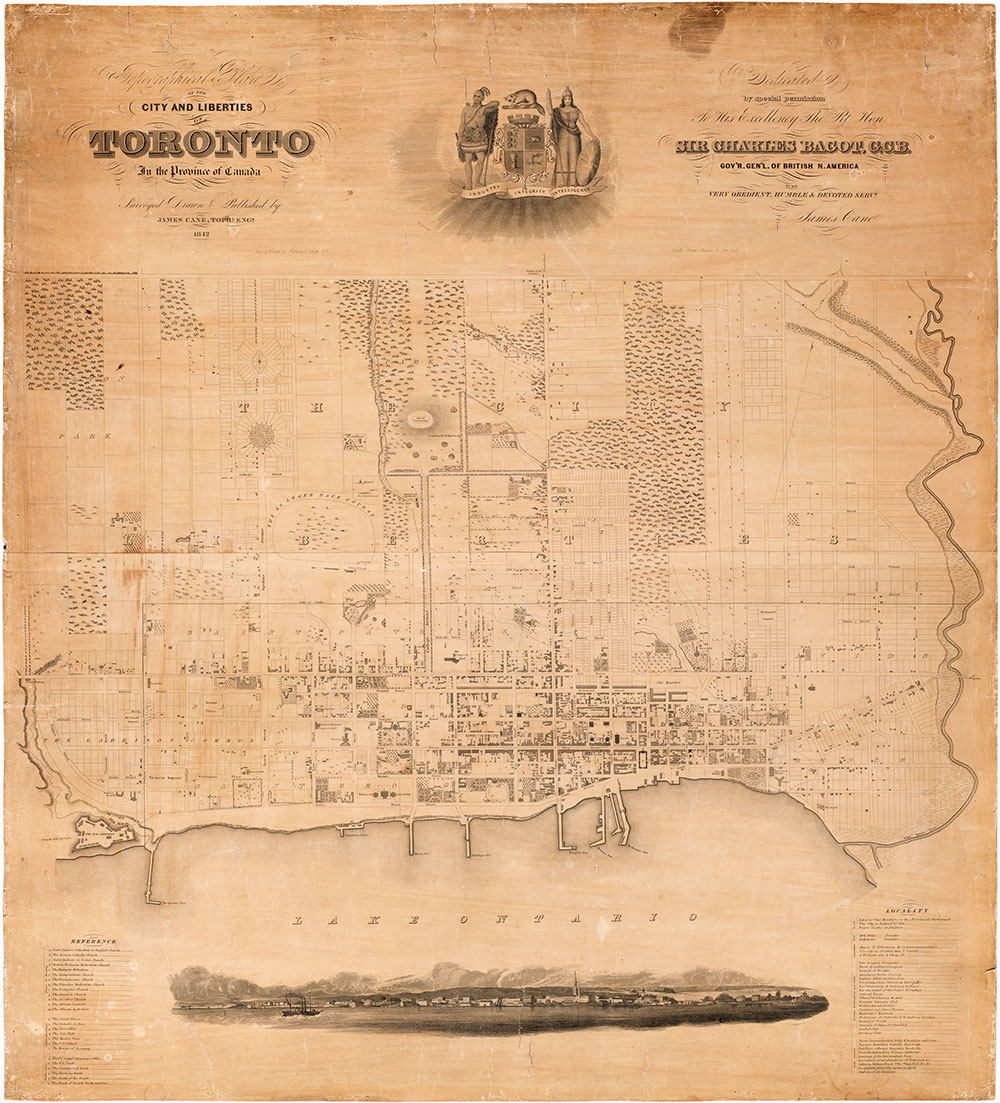 City and Liberties Vintage Historical Toronto Map