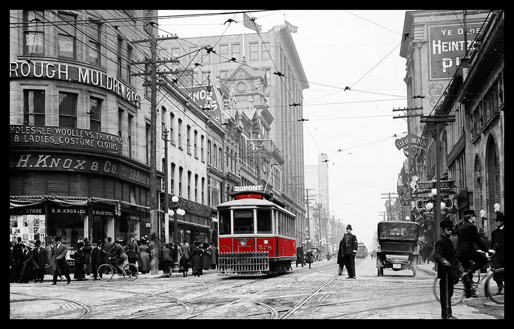 Yonge Street looking north from Queen Street 1900s