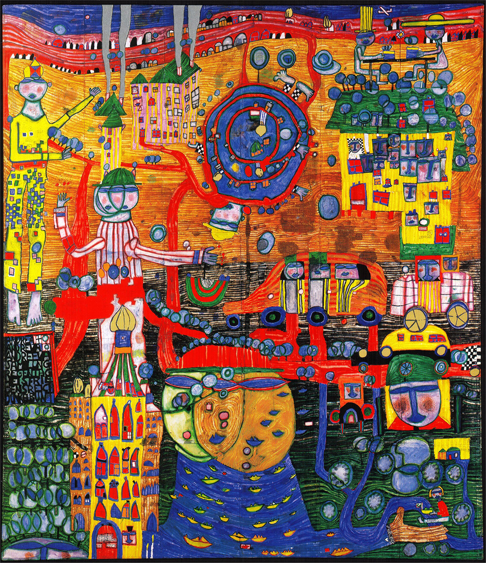 The Uneven Floor by Hundertwasser