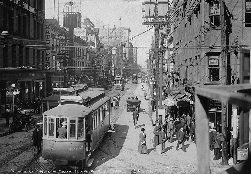 Yonge Street north from King. October 1911
