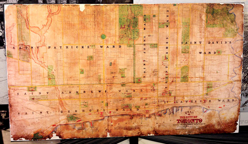 Old Historical Government Survey Vintage Map of Toronto