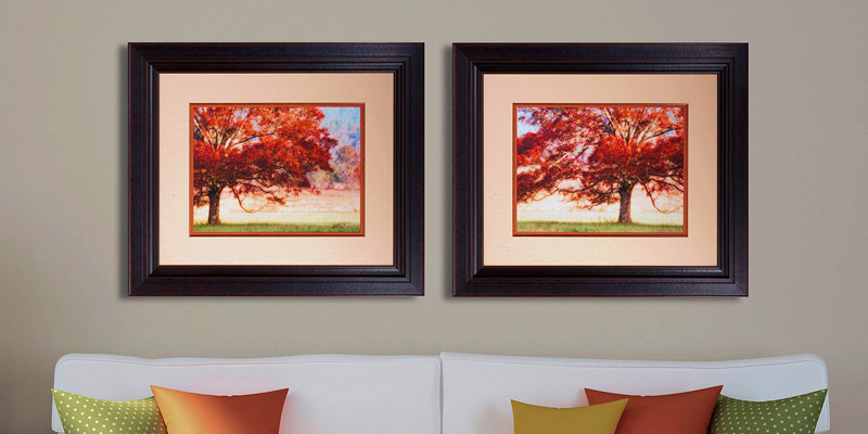 Angus Rustic Picture Frame Custom Framing Living Room