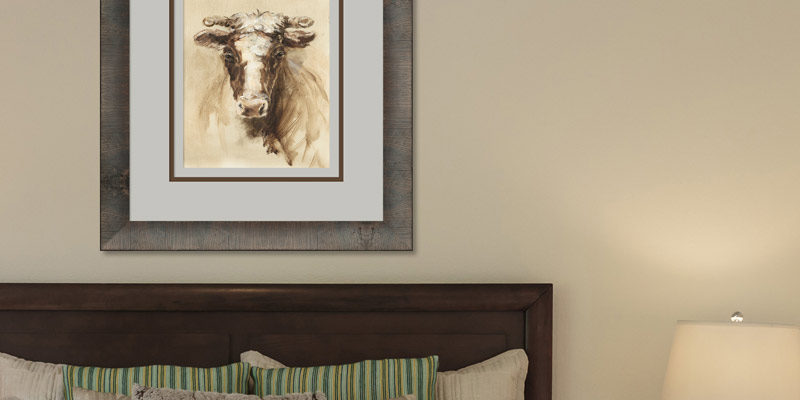 Panzano Rustic Picture Frame Custom Picture Framing in Bedroom