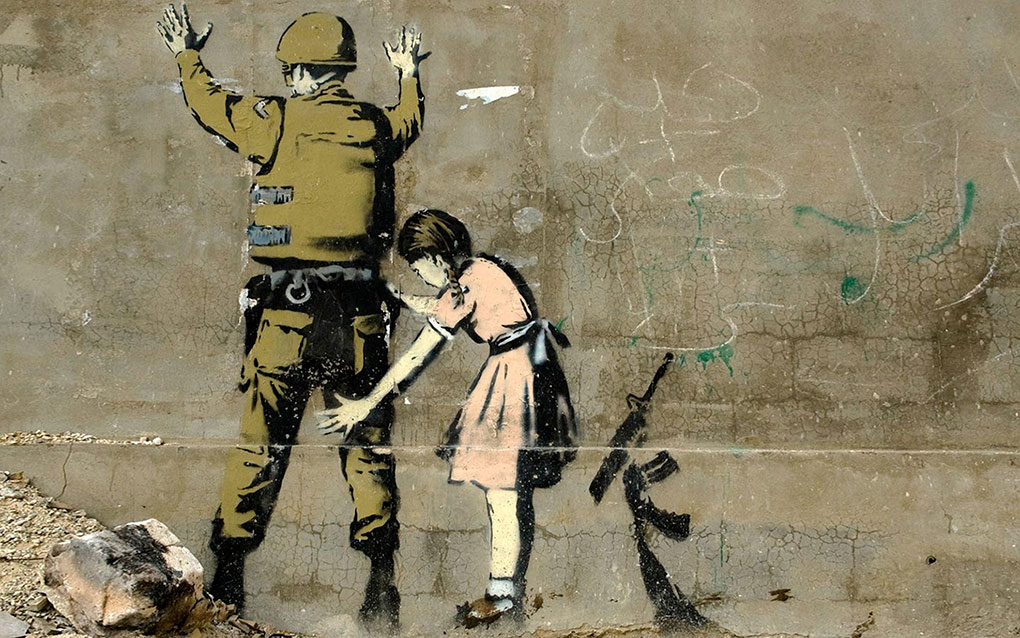 Banksy Stop and Search (Girl and a Soldier)