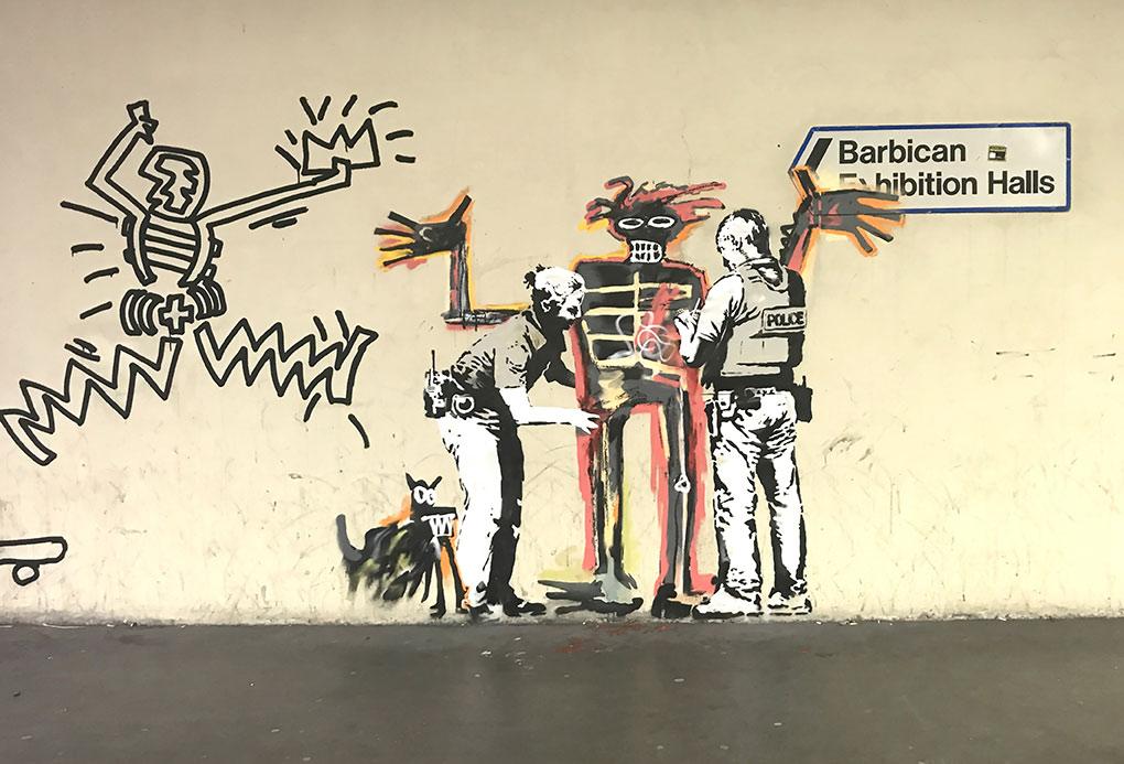 Banksy Basquiat Police