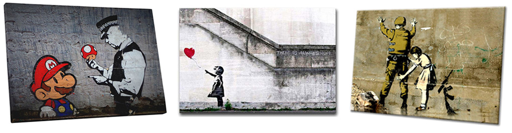 Banksy Graffiti Art Prints Available at Alternative Arts in Toronto