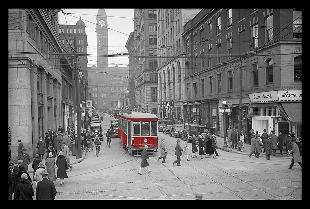 Bay Street with Street Car
