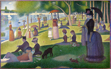 A Sunday on la Grande Jatte bu Georges Seurat