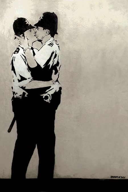 Banksy Kissing Coppers