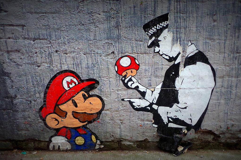 Banksy Super Mario