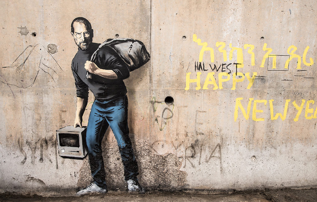 Banksy The Son of a Migrant from Syria (Steve Jobs)