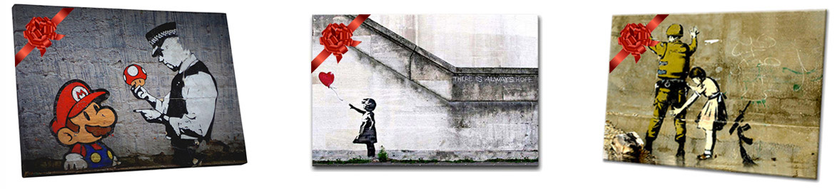 Banksy Art Prints Available in Toronto at Alternative Arts